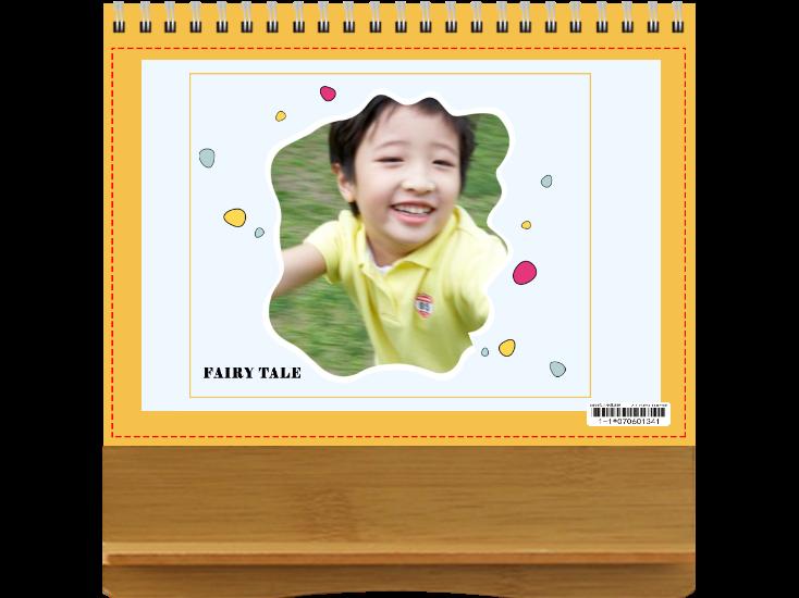 甜心女孩--【横款】竹木纹台历